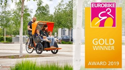Rickshaw bike Chat wins Eurobike Gold award