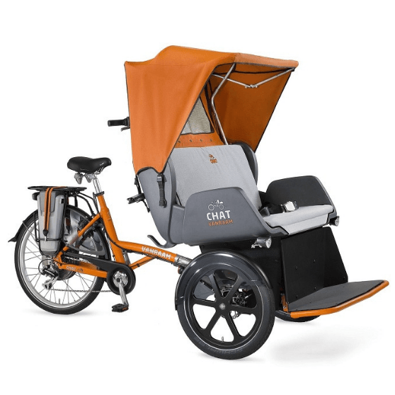 Chat Rickshaw Transport Bike Van Raam with orange cap