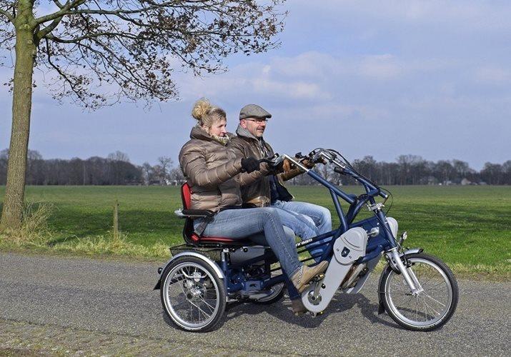 Schreibtisch Elektrisch Fur 2 Personen Nebeneinander: Parallel Tandem Fun2Go Dreiradtandem Van Raam