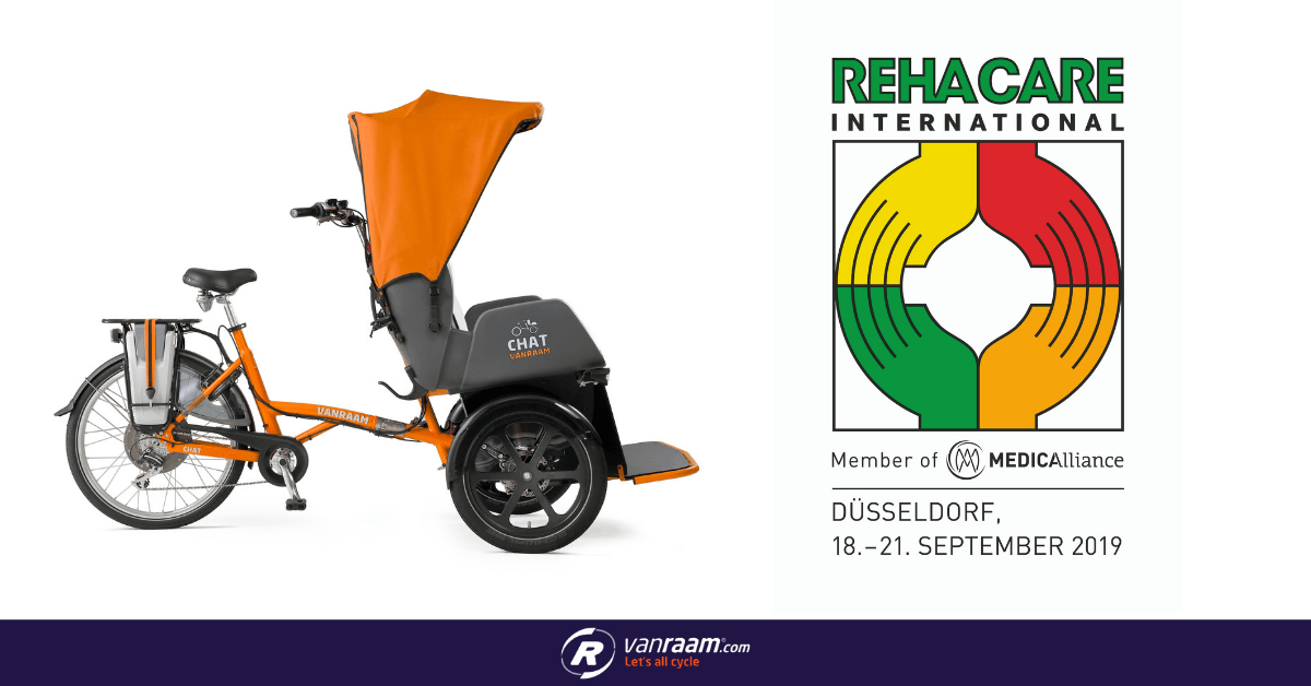 At REHACARE 2019 Van Raam presents special needs bicycles