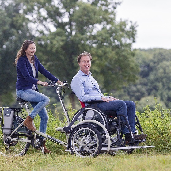 Wheelchair transport bike Van Raam