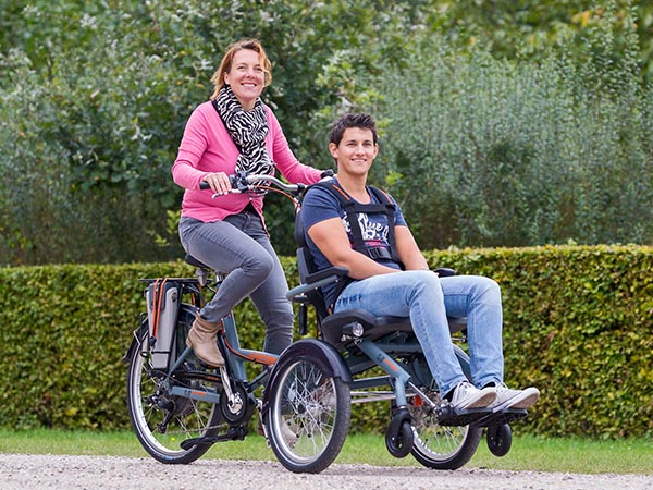 Transport bike OPair wheelchair bike Van Raam