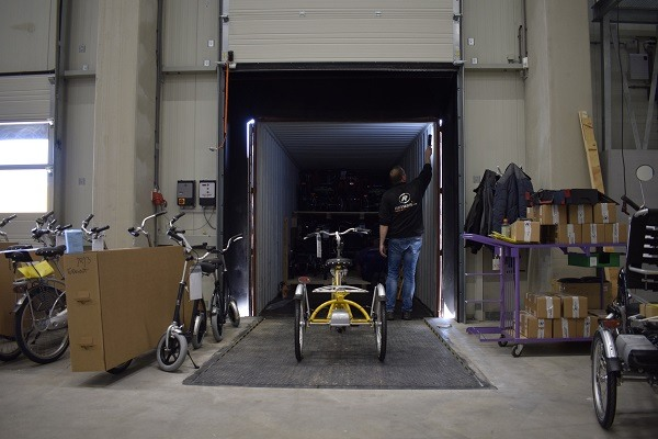 Packing special needs bikes Van Raam