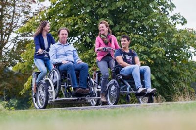Wheelchair bikes to cycle with a disability