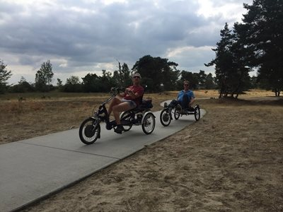 Cycling at Hoge Veluwe met adaptive bike