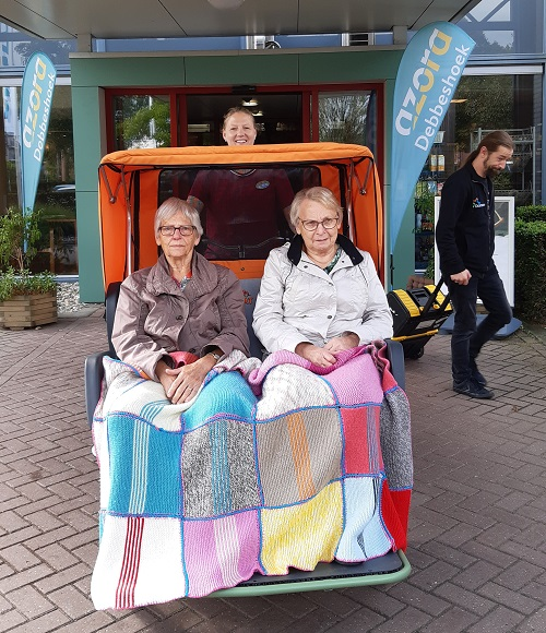 User experience Ricksha bike chat Debbeshoek Azora carehome
