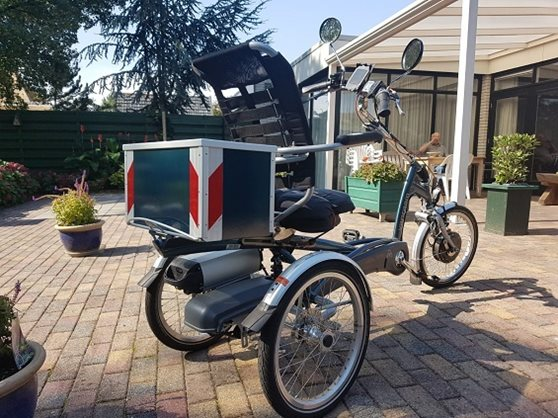 Homemade box for on tricycle Easy Rider by Van Raam