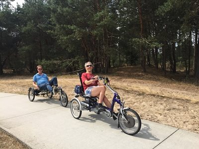 Van Raam trikes testing at the Hoge Veluwe