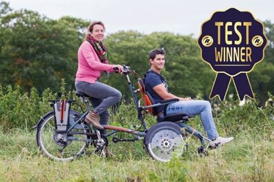 The test winner of the commission is the OPair wheelchair bicycle