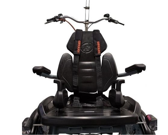 Sitting with adjustments child wheelchair bike