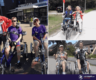 Cycling with your love with a special needs bike by Van Raam