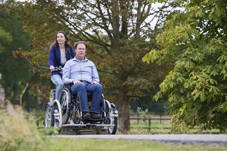 New Van Raam VeloPlus wheelchair bikes on the road