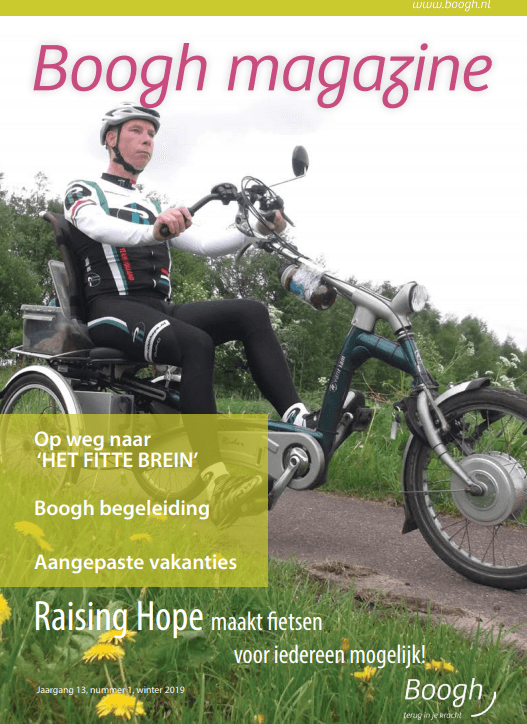 Diederik on cover of magazine for people with brain injury