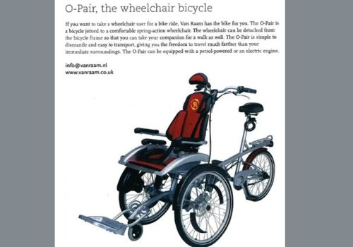 Van Raam special needs bikes in magazine made in Holland 2005