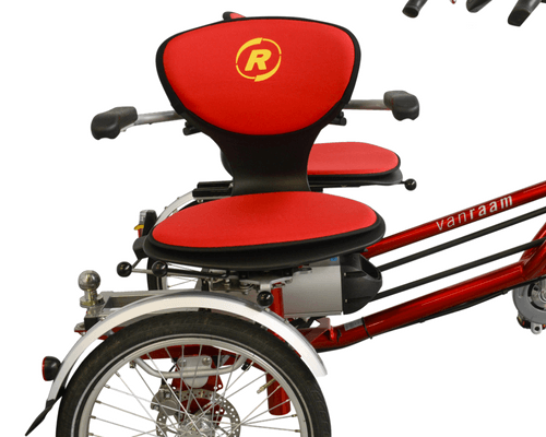 side-by-side tandem rotatable seat