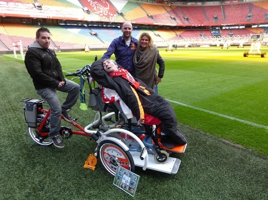 wheelchair bike Van Raam bikes
