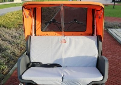Protection screen rickshaw bike