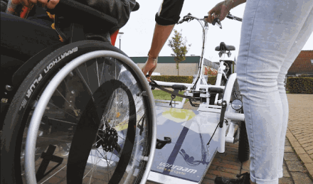 winch system for wheelchair bike VeloPlus