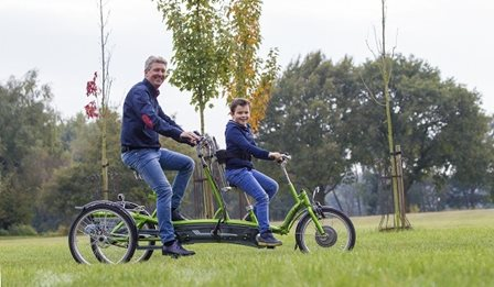 Van Raam three-wheel tandem Kivo Plus for people with limited mobility