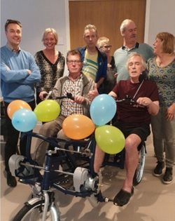 Van Raam Fun2Go duo bike for Huntington patients
