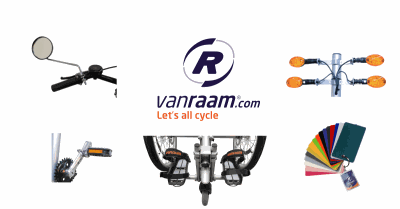 Bicycle parts and options for Van Raam special needs bikes