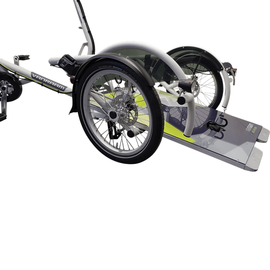Inclinable rampe cycle de transport de fauteuil roulant