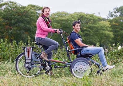 Tips for cycling with a wheelchair bike Van Raam OPair