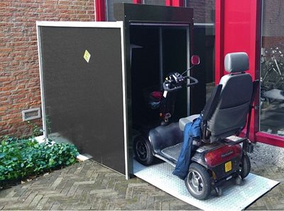 multifunctional storage for special needs bikes