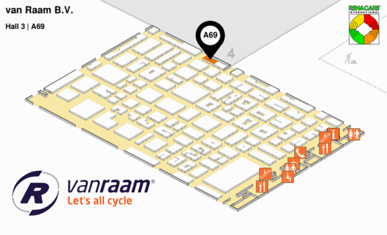 Van Raam at REHACARE 2018 Hall 3, Stand A69