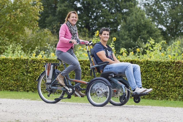 Electric wheelchair bike