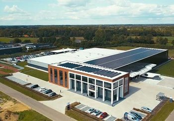 Overview Van Raam bicycle factory with solar panels