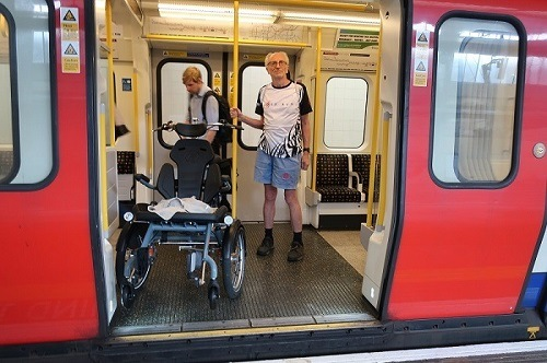 User experience wheelchair bike OPair - Jess Lee - Taking the London Tube