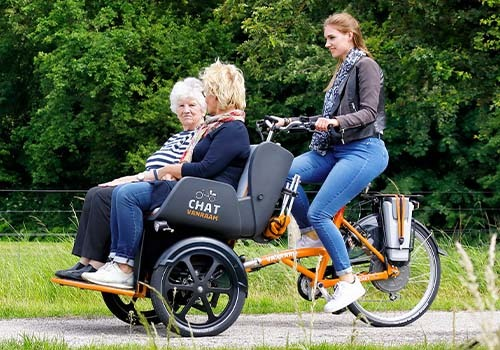Van Raam Chat rickshaw bike rental at De Bever