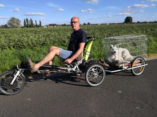 Customer experience recumbent trike for adults Easy Sport - Bernard van Maele