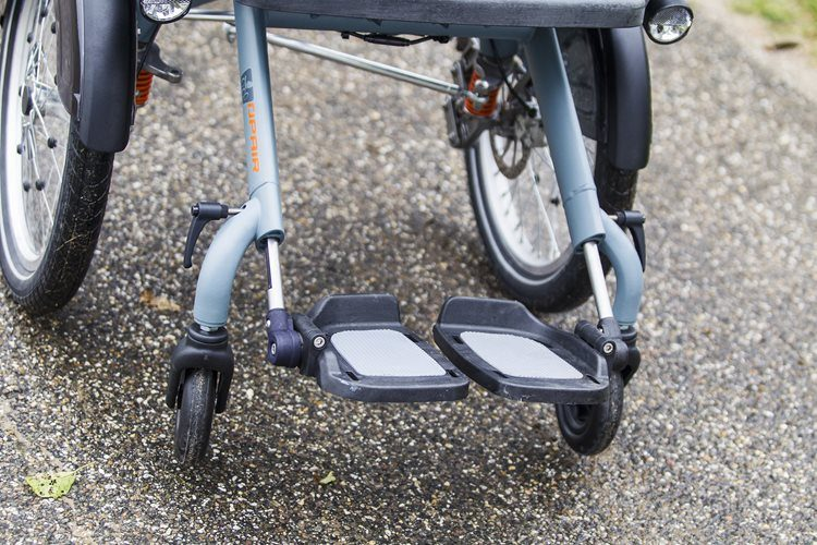 Foot rests wheelchair bike Opair