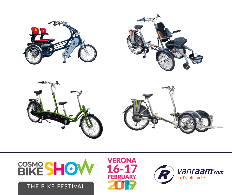 Our Italian Van Raam dealer presents duo bikes at Cosmobike Show (Verona, Italy)
