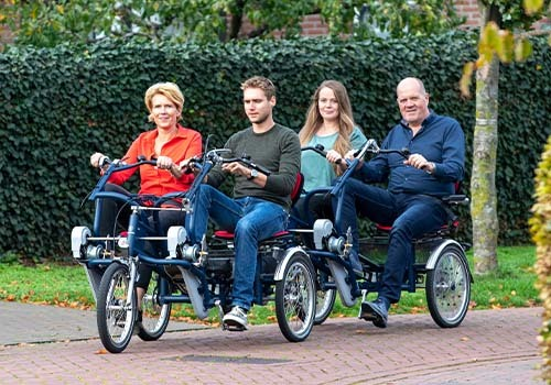 Van Raam FunTrain duo bike trailer rental at De Bever