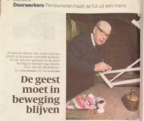 Henk Kluver in the Volkskrant - continuing to work after retirement