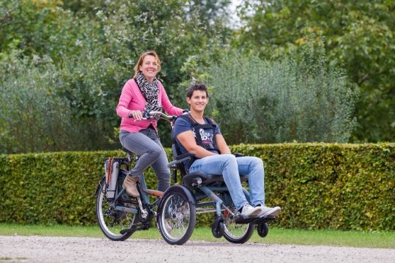 Van Raam OPair wheelchair bike for cycling together