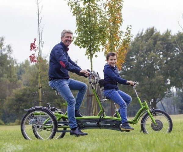 Van Raam tricycle tandem Kivo Plus for people with autism