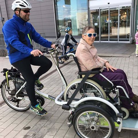 Wheelchair bicycle taxi service in Finland