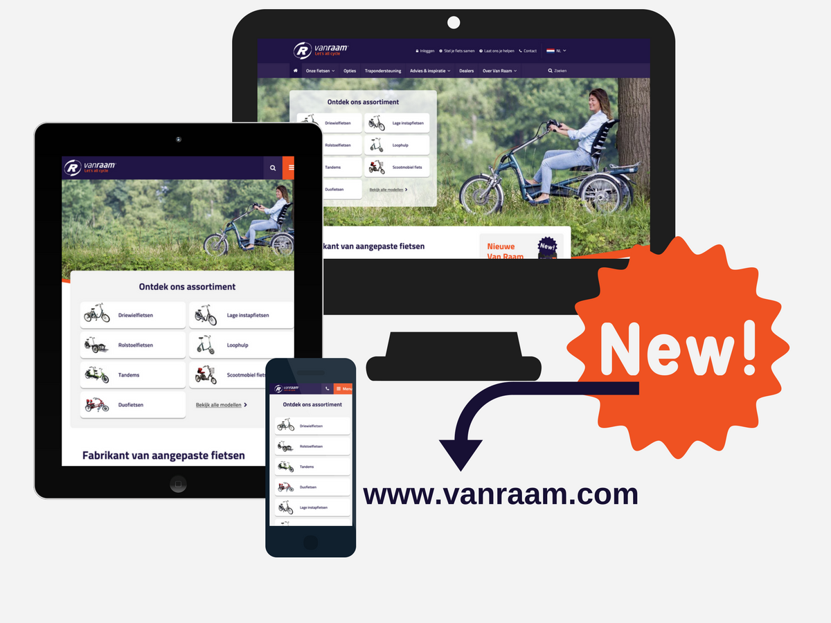 Welcome to the renewed Van Raam website