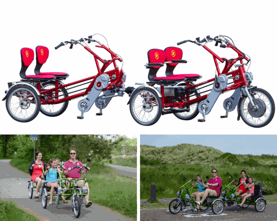 Side-by-side tandem and cycle trailer