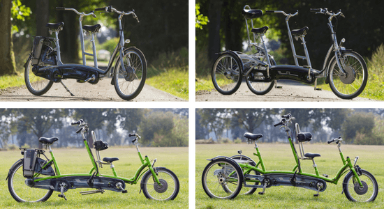 Electric tandem bicycles