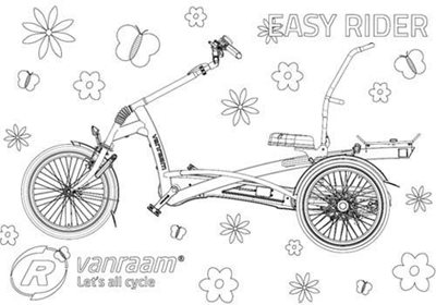 Van Raam colouring page Easy Rider tricycle