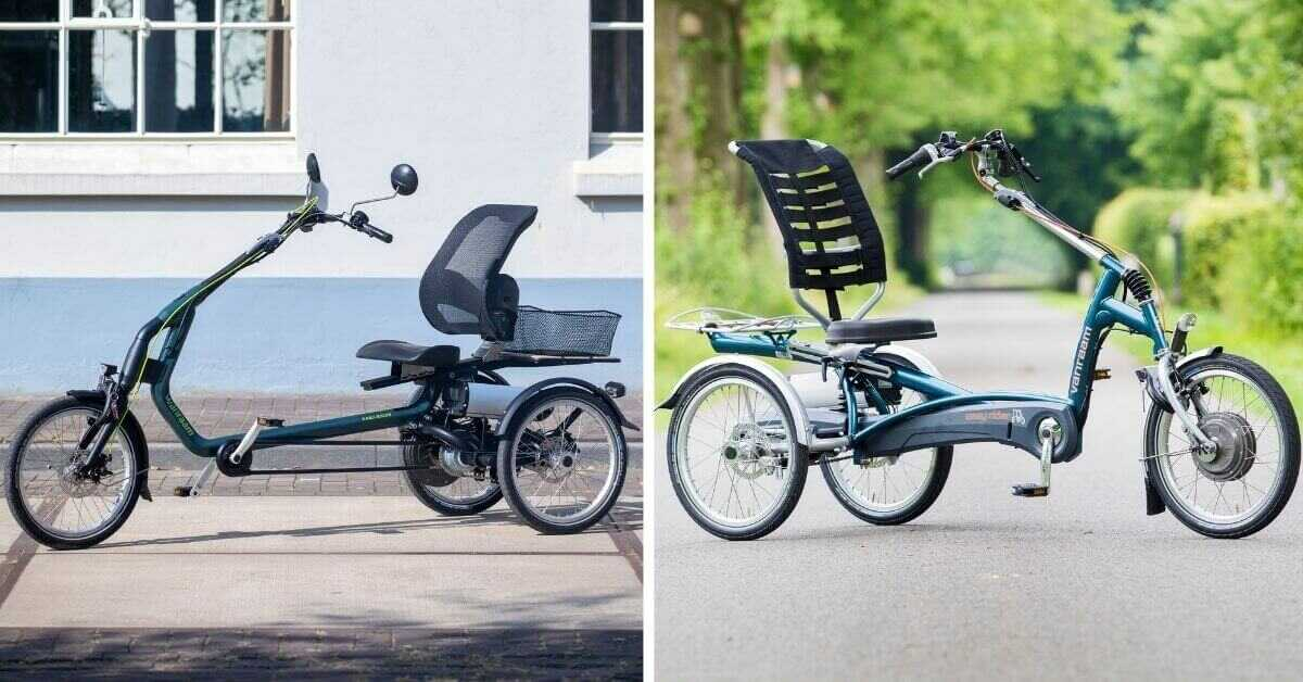 Design differences between tricycles Easy Rider 3 and 2