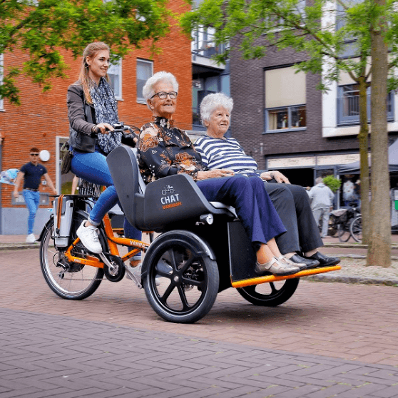Chat Rickshaw Transport Bike Van Raam