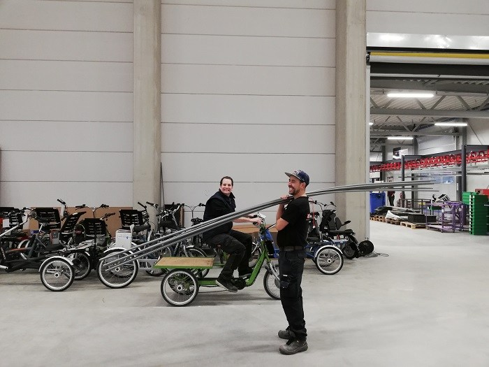 New premises Van Raam adaptive bikes factory